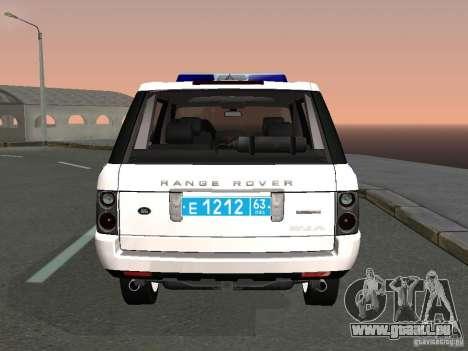 Range Rover Supercharged 2008 Police DEPARTMENT für GTA San Andreas zurück linke Ansicht