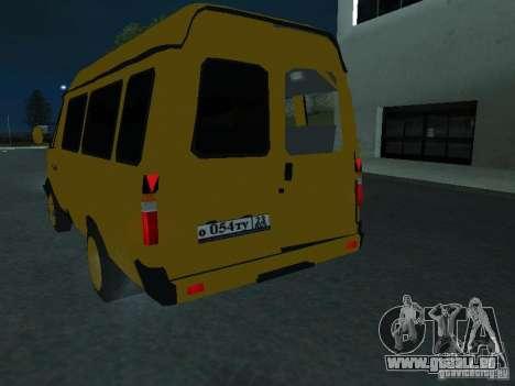Taxi de la Gazelle pour GTA San Andreas vue intérieure