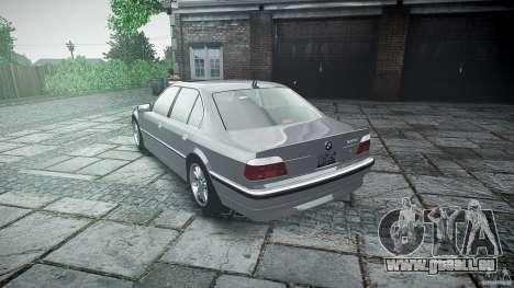 BMW 740i (E38) style 32 pour GTA 4 vue de dessus
