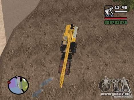 KrAZ-250 MKAT-40 für GTA San Andreas zurück linke Ansicht