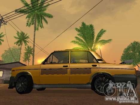 VAZ 2106 tuning Taxi pour GTA San Andreas vue de droite