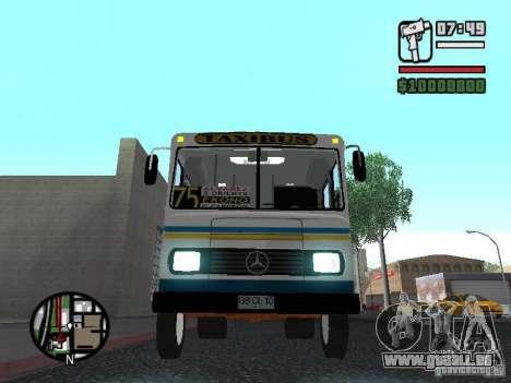 Cuatro Ases M.Benz LO608D für GTA San Andreas obere Ansicht