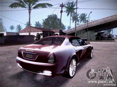 Maserati Quattroporte 2010 pour GTA San Andreas vue intérieure