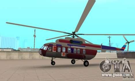 MI-17 zivil (Deutsch) für GTA San Andreas zurück linke Ansicht