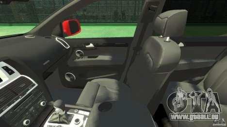 Audi Q7 v12 TDI pour GTA 4 est une vue de l'intérieur