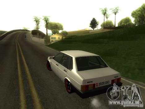 VAZ 21099 c. 2 pour GTA San Andreas vue intérieure