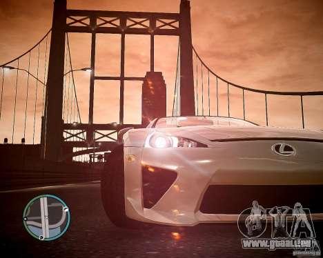 Lexus LF-A Roadster für GTA 4 rechte Ansicht