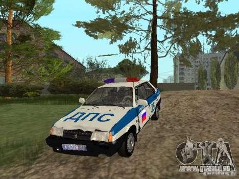 VAZ 21099 DPS pour GTA San Andreas vue arrière