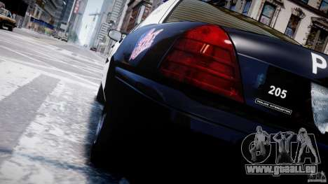 Ford Crown Victoria Massachusetts Police [ELS] pour GTA 4 roues