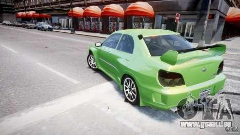 Subaru Impreza STI Wide Body pour GTA 4 roues