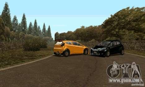 Ford Fiesta Rally pour GTA San Andreas sur la vue arrière gauche