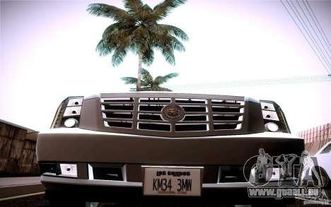 Cadillac Escalade pour GTA San Andreas vue arrière