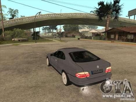 Mercedes-Benz CLK320 Coupe pour GTA San Andreas sur la vue arrière gauche