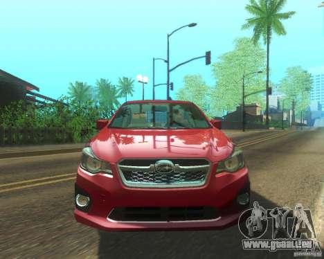 Subaru Impreza Sedan 2012 pour GTA San Andreas vue arrière