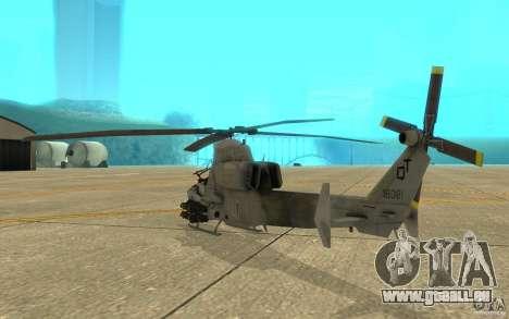 Cobra pour GTA San Andreas vue de droite