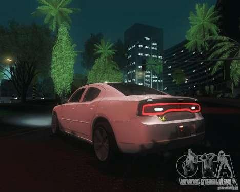 Dodge Charger 2011 pour GTA San Andreas sur la vue arrière gauche