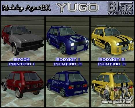 Yugo 45 Tuneable pour GTA San Andreas