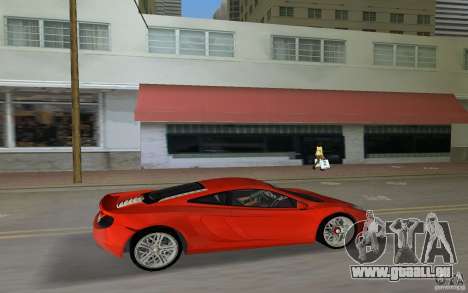 Mclaren MP4-12C für GTA Vice City zurück linke Ansicht