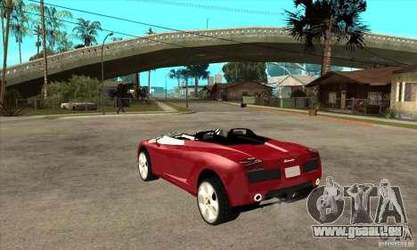 Lamborghini Concept S pour GTA San Andreas sur la vue arrière gauche