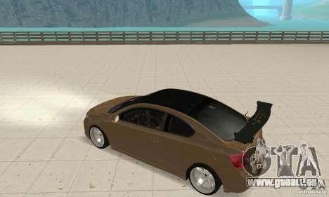 Toyota Scion tC Edited pour GTA San Andreas vue de droite