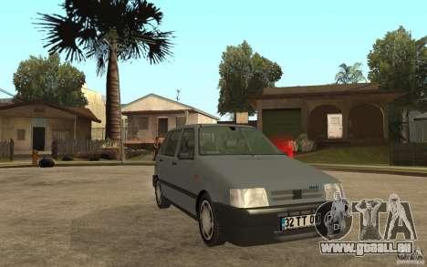 Fiat Uno 70s pour GTA San Andreas vue arrière