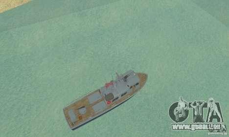 Coast Guard Patrol Boat pour GTA San Andreas vue de droite