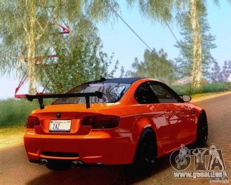 BMW M3 GT-S 2011 pour GTA San Andreas laissé vue