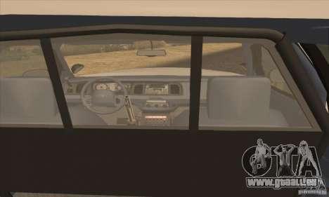Ford Crown Victoria Arizona Police für GTA San Andreas zurück linke Ansicht