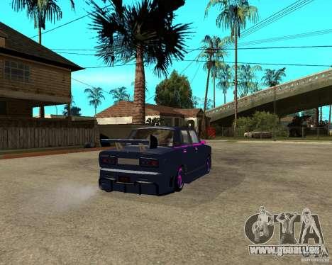 Réglage de la course de rue VAZ 2105 pour GTA San Andreas sur la vue arrière gauche