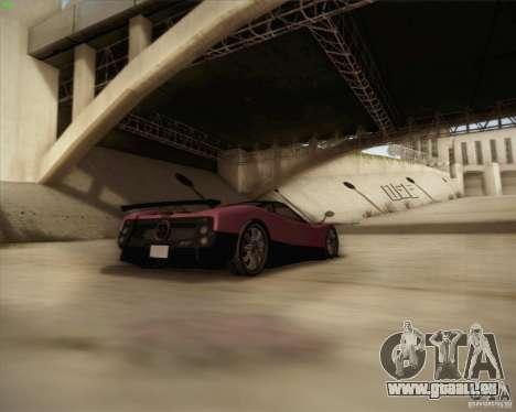 Pagani Zonda F V1.0 pour GTA San Andreas vue de dessus