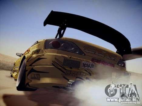 Nissan Silvia S15 Top Secret v2 pour GTA San Andreas sur la vue arrière gauche