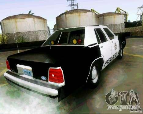 Ford Crown Victoria LTD 1991 LVMPD pour GTA San Andreas laissé vue