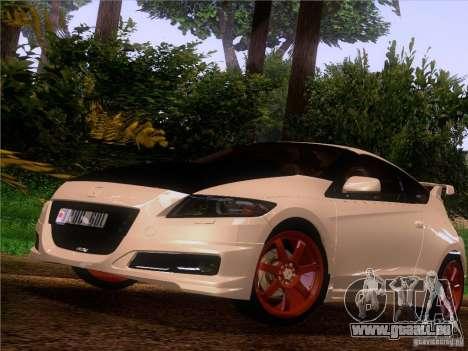 Honda CR-Z Mugen 2011 V2.0 für GTA San Andreas Rückansicht