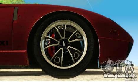 Ford GTX1 Roadster V1.0 pour GTA San Andreas vue de dessous