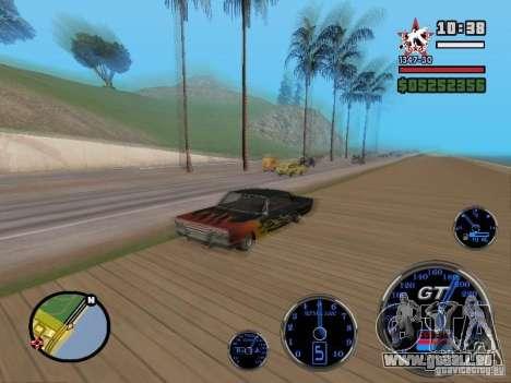 Speedometer GT pour GTA San Andreas deuxième écran