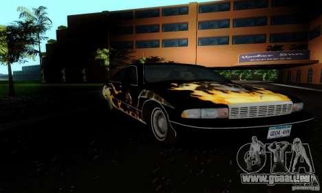 Chevrolet Caprice 1991 für GTA San Andreas Rückansicht