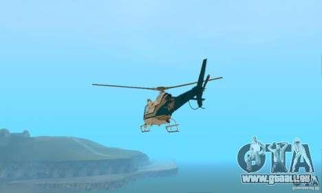AS350 Ecureuil pour GTA San Andreas sur la vue arrière gauche