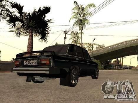 Vaz 21065 pour GTA San Andreas sur la vue arrière gauche