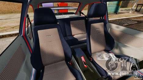 Ford Sierra RS500 Cosworth 1987 pour GTA 4 est une vue de l'intérieur