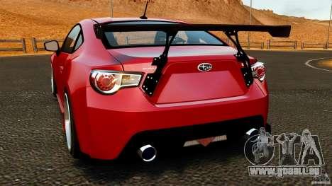 Subaru BRZ 2013 pour GTA 4 Vue arrière de la gauche