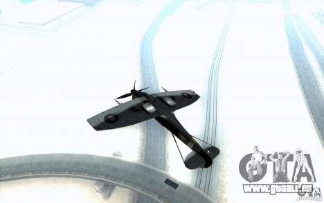 Spitfire pour GTA San Andreas vue de côté