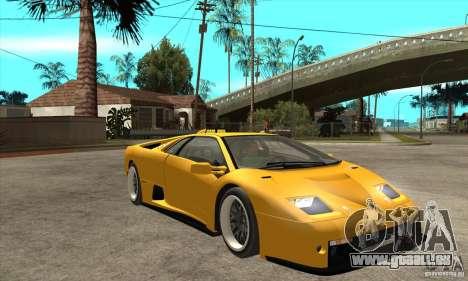 Lamborghini Diablo GT-R 1999 für GTA San Andreas Rückansicht