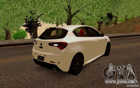 Alfa Romeo Giulietta 2010 für GTA San Andreas zurück linke Ansicht