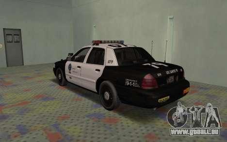 Ford Crown Victoria Police Interceptor LSPD für GTA San Andreas rechten Ansicht