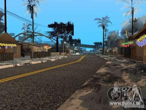 Nouvel an à la rue Grove pour GTA San Andreas septième écran
