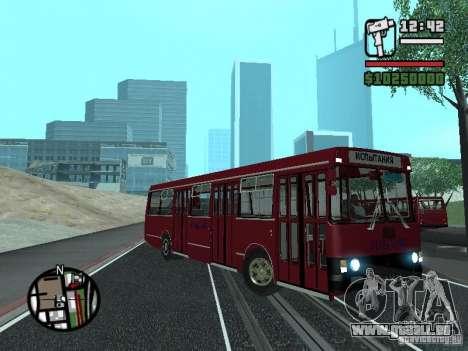 LAZ 5252 für GTA San Andreas Rückansicht
