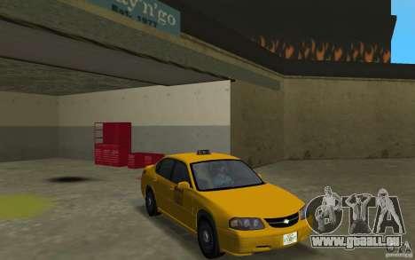 Chevrolet Impala Taxi pour GTA Vice City vue arrière
