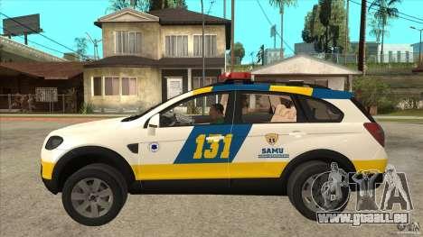 Chevrolet Captiva Police pour GTA San Andreas laissé vue