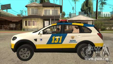 Chevrolet Captiva Police für GTA San Andreas linke Ansicht