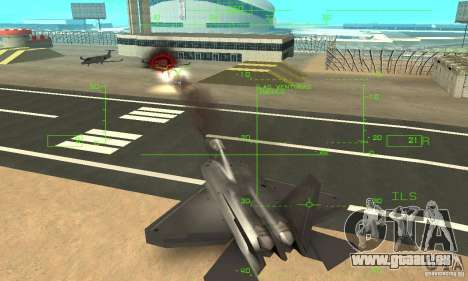YF-22 Black pour GTA San Andreas vue de dessous